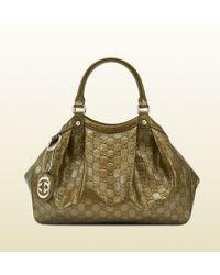 Gucci | Sukey Guccissima Metallic Leather Tote | Lyst