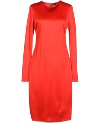 Joseph Long Sleeve Crew Neckline Red 3/4 Length Dress - Lyst