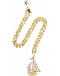 Juicy Couture - Goldplated Cubic Zirconia Boat Necklace - Lyst