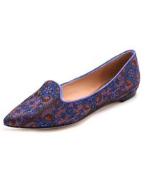 Belle By Sigerson Morrison Sadie Brocade Loafers - Lyst