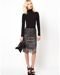 Beloved - Lace Pencil Skirt - Lyst