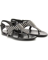Burberry Brit - Lacy Studded Leather Sandals - Lyst
