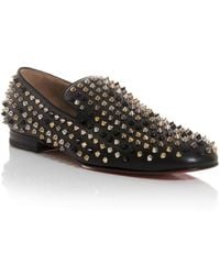 Christian Louboutin Louis Spikes High-top Trainers - Lyst