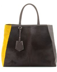 Fendi 2Jours Large Haircalf Tote - Lyst