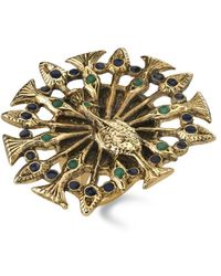 House Of Harlow Large Peacock Cocktail Ring - Lyst