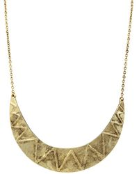 House Of Harlow Zig Zag Collar Necklace - Lyst