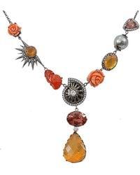 Colette - Fire Opal Pink Tourmaline Necklace - Lyst