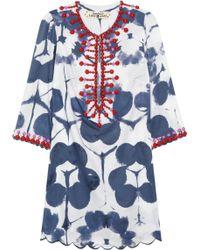 Easton Pearson Amea Kuta Embellished Printed Cotton Kaftan - Blue