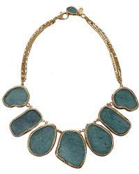 Kara Ross - Aquamarine and Crystal Resin Necklace - Lyst