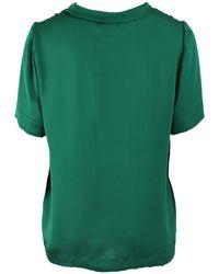 Lanvin Short Sleeve Easy Silk Tee - Green