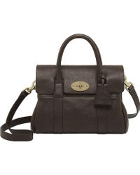 Mulberry Bayswater Small Natural Leather Satchel Brown - Lyst