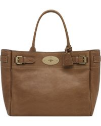 Mulberry Bayswater Natural Leather Tote Oak - Lyst