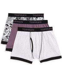 Topman Pattern 3 Pack Underwear - Lyst