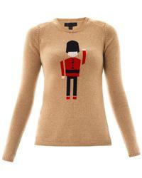 Burberry Prorsum - Queens Guard Intarsiaknit Sweater - Lyst