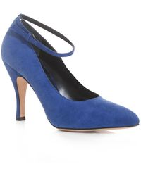 Christopher Kane Suede Ankle Strap Pumps - Lyst