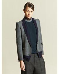 Kolor Womens Wool Cashmere Blazer - Grey