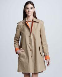 Ralph Lauren Black Label Bonded Cotton Reversible Trench Coat Mandarinwheat - Natural