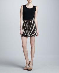 Michael Kors Zebra-print Serge Mini-skirt - Lyst