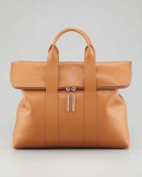 3.1 Phillip Lim 31hour Foldover Tote Bag Camel - Lyst