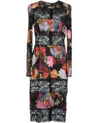 Dolce & Gabbana Mimosa-Print Dress - Lyst