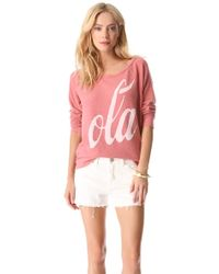 Sol Angeles Ola Pullover - Pink