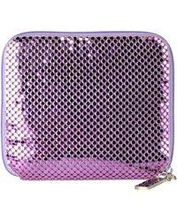 Whiting & Davis Wallet purple - Lyst