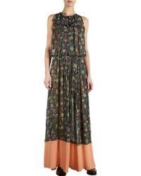 Balenciaga Printed Maxi Dress - Lyst