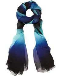 Jonathan Saunders - Blue Ombre Square Print Silk Scarf - Lyst