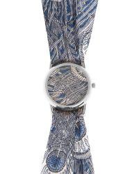 Liberty - Large Hera Liberty Print Knot Watch - Lyst