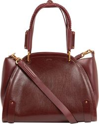 Maiyet Small Red Peyton Braided Tote Bag