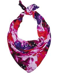 Teatum Jones - Pink Abstract Print Silk Scarf - Lyst