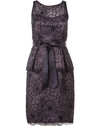 Adrianna Papell Embroidered Organza Dress - Lyst