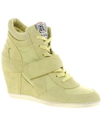 Ash Cool Wedge Hi Top Trainer Shoes - Lyst