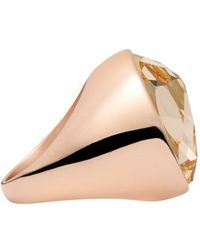 Aurora - 18ct Rose Gold Plated Cocktail Ring - Lyst