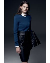 Balenciaga Tie Pencil Skirt Black - Lyst