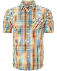 Bench - Kippax Short Sleeved Checked Shirt - Lyst