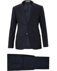 Bottega Veneta Wool and Angora Blend Suit - Blue