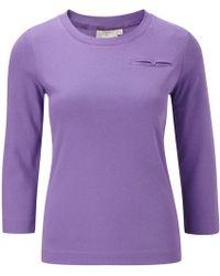 Cc 34 Sleeve Pocket Crew Neck Basic Tee purple - Lyst