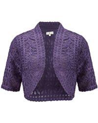 Cc Heather Cornelli Shrug purple - Lyst
