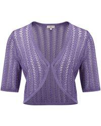Cc Petite Wisteria Crochet Bolero purple - Lyst