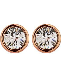 Dyrberg Kern Thelma Rose Gold Crystal Earrings - Lyst