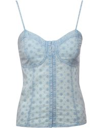 Jane Norman Embroidery Hook and Eye Cami Top - Lyst