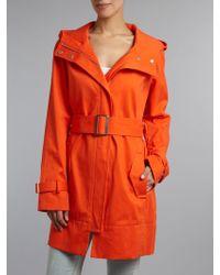 Kenneth Cole Belted Zip Through Jacket - Orange