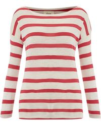 Linea Weekend Ladies Boatneck Stripe Jersey Top - Lyst