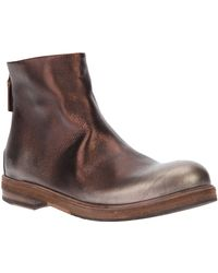 Marsell Metallic Ankle Boot - Lyst