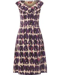 Max Mara Studio Aereo Sleeveless Printed Shift Dress - Lyst