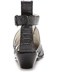 Messeca Carolyn Cutout Booties - Black