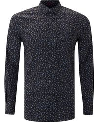 Paul Smith Long Sleeved Disty Floaral Slim Fit Shirt - Lyst