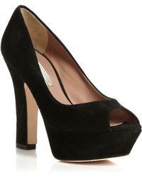 Pied a Terre | Calla Platform Peeptoe Court Shoes | Lyst