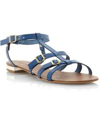Pied A Terre Laxmi Tbar Ankle Tie Sandals - Lyst